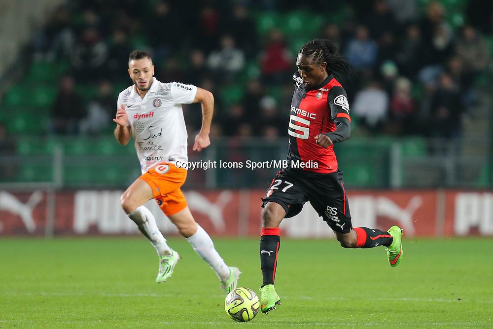 Habib HABIBOU - 06.12.2014 - Rennes / Montpellier - 17eme journee de Ligue 1 -<br />Photo : Vincent Michel / Icon Sport