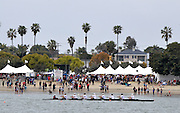 San Diego, California. USA,   2013 San Diego Crew Classic, Mission Bay.  Men's Club, City of San Diego Think Blue Cup,  a crew race pass the Spectators, at the Beach. 12:16:28   Sunday  07/04/2013  [Mandatory Credit. Karon Phillips/Intersport Images]...
