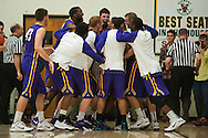 during the men's basketball game between the Albany Great Danes and the Vermont Catamounts at Patrick Gym on Wednesday night January 28, 2015 in Burlington, Vermont. (BRIAN JENKINS, for the Free Press)