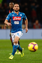 November 11, 2018 - Genoa, Italy - Dries Mertens of Napoli in action during the Lega Seria A match between Genoa CFC and SSC Napoli on November 10, 2018 at Stadio Luigi Ferraris in Genoa, Italy. (Credit Image: © Mike Kireev/NurPhoto via ZUMA Press)