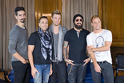 The Backstreet Boys in Madrid. <br /> The Backstreet Boys,  (L-R) Kevin Richardson, Howie Dorough, Nick Carter, A.J. Maclean and Brien Littrell visit Spain to celebrate their 20th anniversary. The group that revolutionised a decade has been reunited to celebrate their 20th anniversary in the music world, Madrid, Spain, Tuesday, 12th November 2013. Picture by Oscar Gonzalez / i-Images<br /> <br /> SPAIN OUT