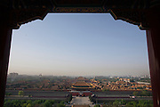 A view of the Forbidden City from atop Jing Shan Park.