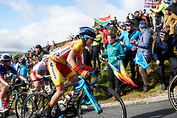 Eider Merino (ESP) on the Lofthouse climb at UCI Road World Championships 2019 Women's Elite Road Race a 149.4 km road race from Bradford to Harrogate, United Kingdom on September 28, 2019. Photo by Sean Robinson/velofocus.com