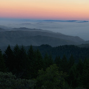 The San Francisco Bay Area from the Summit of Mount Tamalpais. Marin County, CA.