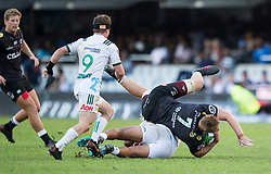 DURBAN, SOUTH AFRICA - MAY 19: Jean-Luc Du Preez of the Cell C Sharks on attack during the Super Rugby match between Cell C Sharks and Chiefs at Jonsson Kings Park on May 19, 2018 in Durban, South Africa. Picture Leon Lestrade/African News Agency/ANA