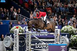 MADDEN Elizabeth (USA), Breitling LS <br /> Göteborg - Gothenburg Horse Show 2019 <br /> Longines FEI World Cup™ Final II - Jump-Off/Stechen<br /> Int. jumping competition with jump-off (1.50 - 1.60 m)<br /> Longines FEI Jumping World Cup™ Final and FEI Dressage World Cup™ Final<br /> 05. April 2019<br /> © www.sportfotos-lafrentz.de/Stefan Lafrentz
