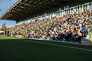 The East Stand during the EFL Sky Bet League 2 match between Forest Green Rovers and Cheltenham Town at the New Lawn, Forest Green, United Kingdom on 20 October 2018.