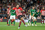 GOAL 2-0 Southampton striker Danny Ings (9) shoots from the penalty spot and scores during the Premier League match between Southampton and Brighton and Hove Albion at the St Mary's Stadium, Southampton, England on 17 September 2018.
