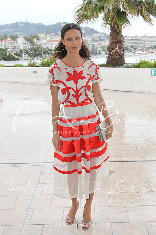 """CANNES, FRANCE - APRIL 08:  British actress Thandie Newton attends """"Rogue' Photocall on the Croisette during the 50th  MIPTV on April 8, 2013 in Cannes, France.  (Photo by Tony Barson/Getty Images)"""