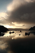 Portree Harbour, the main settlement on the Isle of Skye, at sunrise