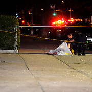 Police investigate the scene of a very bad accident leaving one person dead on scene at Bay Ridge Parkway and 18th Avenue in Brooklyn late Tuesday night.
