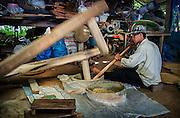 Making Green Rice, Nakhon Nayok, Thailand