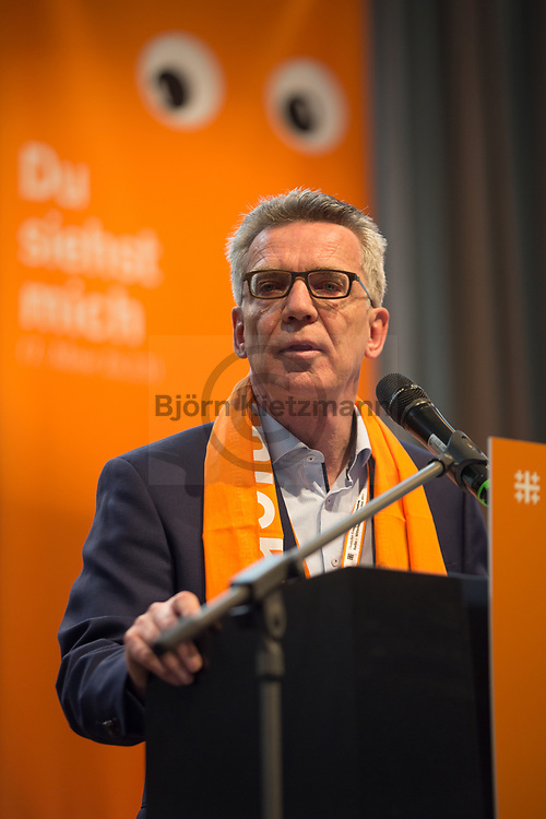 Berlin, Germany - 26.05.2017<br /> <br /> The German Federal Minister of the Interior Thomas de Maiziere. German Protestant Church Assembly (&quot;Deutscher Evangelischer Kirchentag&rdquo;) in Berlin. <br /> <br /> Bundesinnenminister Thomas de Maiziere. Deutscher Evangelischer Kirchentag 2017 in Berlin. <br /> <br /> Photo: Bjoern Kietzmann