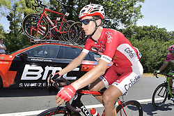 July 14, 2018 - Amiens Metropole, FRANCE - Belgian Dimitri Claeys of Cofidis pictured in action during the eighth stage of the 105th edition of the Tour de France cycling race, from Dreux to Amiens Metropole (181 km), in France, Saturday 14 July 2018. This year's Tour de France takes place from July 7th to July 29th. BELGA PHOTO YORICK JANSENS (Credit Image: © Yorick Jansens/Belga via ZUMA Press)