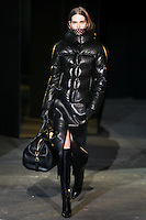 Caroline Brasch Nielsen walks down runway for F2012 Alexander Wang's collection in Mercedes Benz fashion week in New York on Feb 12, 2012 NYC