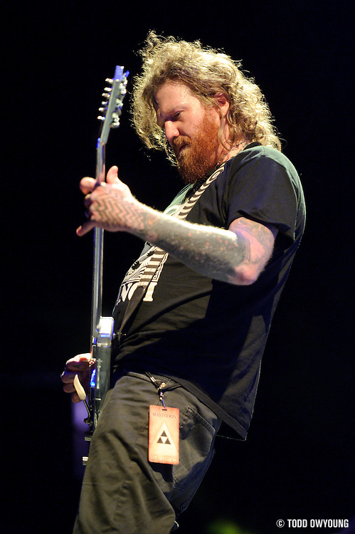 Mastodon performing in support of Alice in Chains on the Black Diamond Skye Tour on October 1, 2010 at the Scottrade Center in St. Louis.