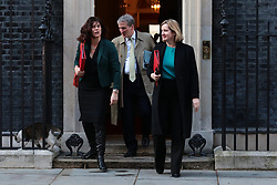 © Licensed to London News Pictures. 02/04/2019. London, UK. Cabinet ministers leave 10 Downing Street after Prime Minister Theresa May chaired a meeting lasting over seven hours to try and agree a path forward with ministers. MPs have voted to reject all alternatives to the Withdrawal Agreement for a second time. Photo credit: Rob Pinney/LNP