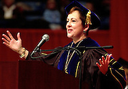 Former Chancellor Nancy Belck presides over a past graduation .photo by chris machian<br /> <br /> Nancy Belck.  Belck was forced to resign due to financial irregularities.