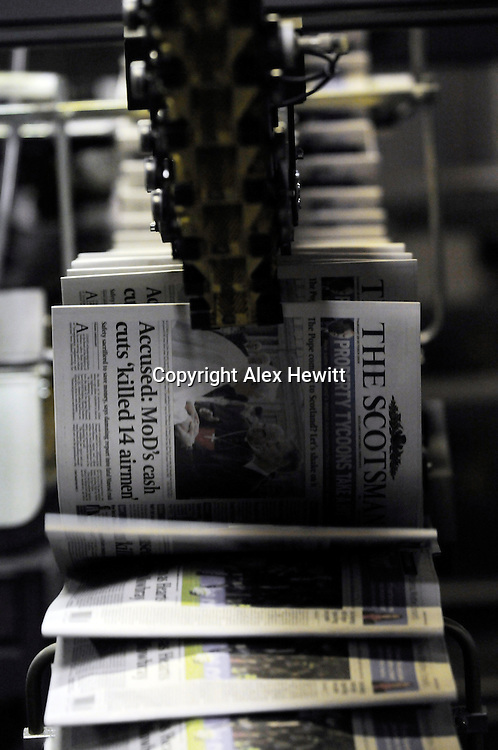 Last Weekend of the Caledonian Offset Newhaven printing press in Edinburgh. The TSPL Scotsman Publications newspaper press was closed down after Johnston Press took over the titles..Copyright Alex Hewitt.0044 (0)7789 871 540
