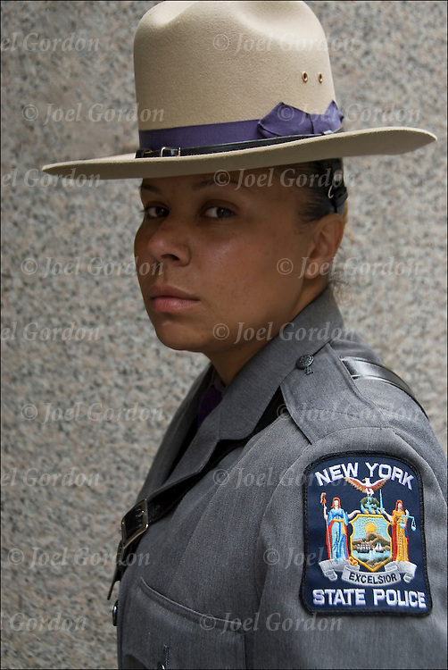 Female New York State Police at the Puerto Rican Day Parade in New York Citty