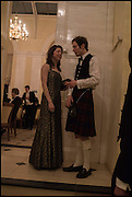 BETSY GLASGOW; JAMIE LINDSAY,  Oxford University Polo club Ball, Blenheim Palace. Woodstock. 6 March 2015