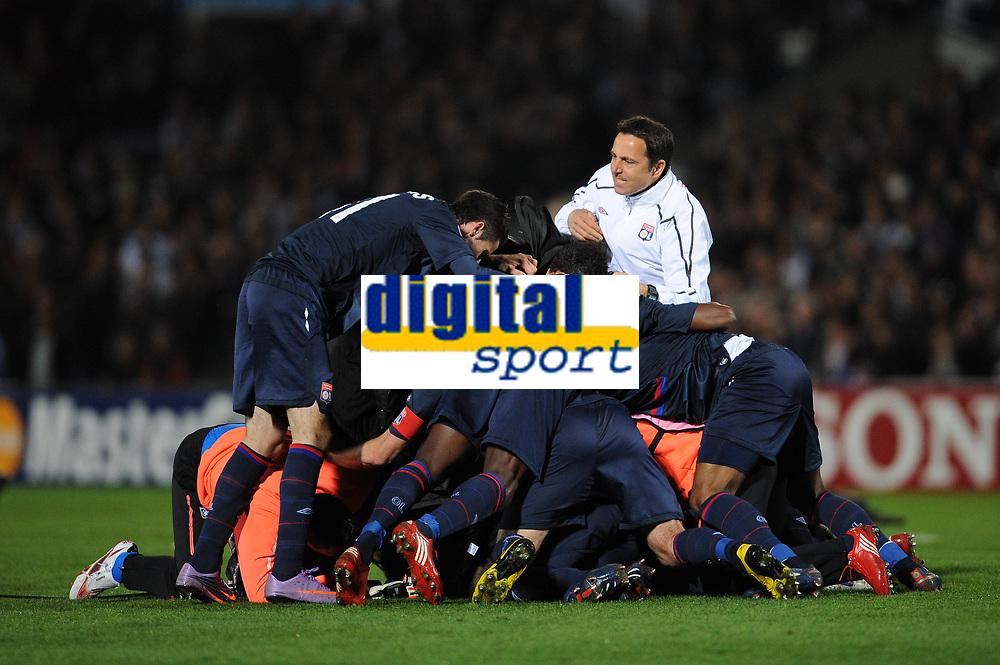 FOOTBALL - UEFA CHAMPIONS LEAGUE 2009/2010 - 1/4 FINAL - 2ND LEG - GIRONDINS DE BORDEAUX v OLYMPIQUE LYONNAIS - 7/04/2010 - JOY LYON<br /> PHOTO FRANCK FAUGERE / DPPI