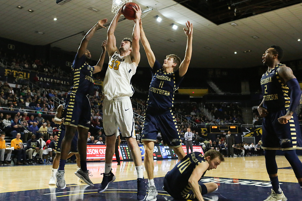 December 22, 2017 - Johnson City, Tennessee - Freedom Hall: ETSU forward Mladen Armus (33)<br /> <br /> Image Credit: Dakota Hamilton/ETSU