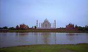 Views and Landscapes of The Taj Mahal - The jewel of Muslim art in India - Agra - India 2011
