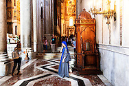 12 July 2016 Monreale, Sicily Italy - The interior of the cathedral of Monreale.