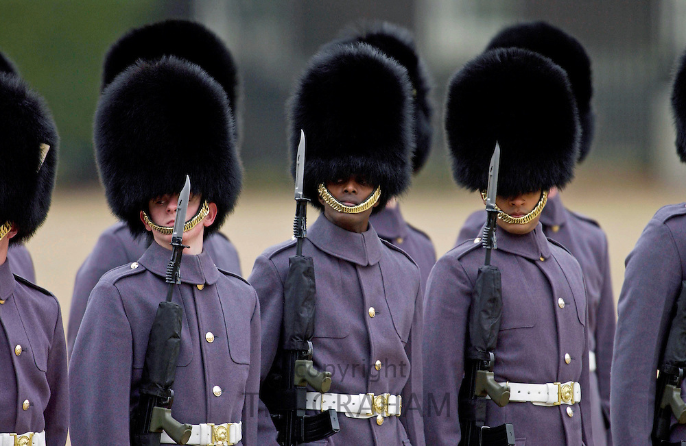 Guard of Honour lining up for a Parade in London