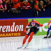 NLD/Heerenveen/20130111 - ISU Europees Kampioenschap Allround schaatsen 2013, 5000 meter heren, Moritz Geisreiter - Ted Jan Bloemen