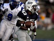 3 SEPT. 2010 -- ST. LOUIS -- SLU High School running back Terek Hawkin (43) carries the ball during the Jr. Billikens game against Ladue High School at SLUH in St. Louis Friday, Sept. 3, 2010. Image © copyright 2010 Sid Hastings.