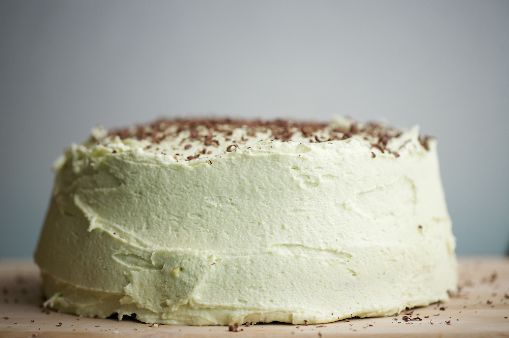 Mexican Chocolate Cake with Avocado Frosting
