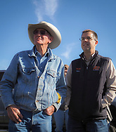 Master Cattleman class members tour the family ranch operations of  Sugarloaf Ranch in Stephens, County. Zac Pogue and Lloyd Ely talked about the way they run their cattle operations.