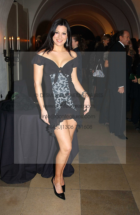 Actress CATHERINE MCQUEEN at a private dinner to unveil the Van Cleef & Arpels jewellery collection 'Couture' with fashion by Anouska Hempel Couture held at The Banqueting House, Whitehall Palace, London on 8th March 2005.<br /><br />NON EXCLUSIVE - WORLD RIGHTS