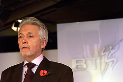Dimension Data Results from BT .Sir Peter Bonfield Chief Executive , November 9, 2000. Photo by Andrew Parsons / i-Images.