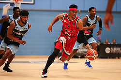 Justin Gray of Bristol Flyers drives forward with the ball - Photo mandatory by-line: Arron Gent/JMP - 28/04/2019 - BASKETBALL - Surrey Sports Park - Guildford, England - Surrey Scorchers v Bristol Flyers - British Basketball League Championship