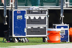 Nov 27, 2011; Oakland, CA, USA; Detailed view of equipment carts on the Chicago Bears sidelines before the game against the Oakland Raiders at O.co Coliseum. Oakland defeated Chicago 25-20. Mandatory Credit: Jason O. Watson-US PRESSWIRE