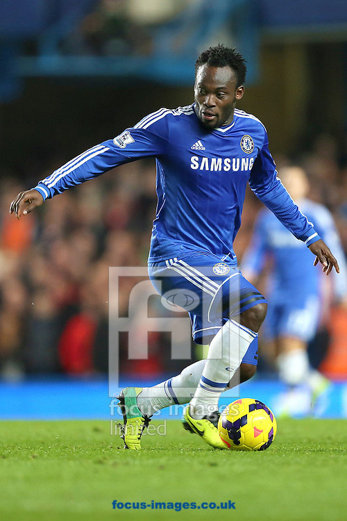 Picture by Richard Calver/Focus Images Ltd +447792 981244<br /> 01/12/2013<br /> Michael Essien of Chelsea during the Barclays Premier League match against Southampton at Stamford Bridge, London.