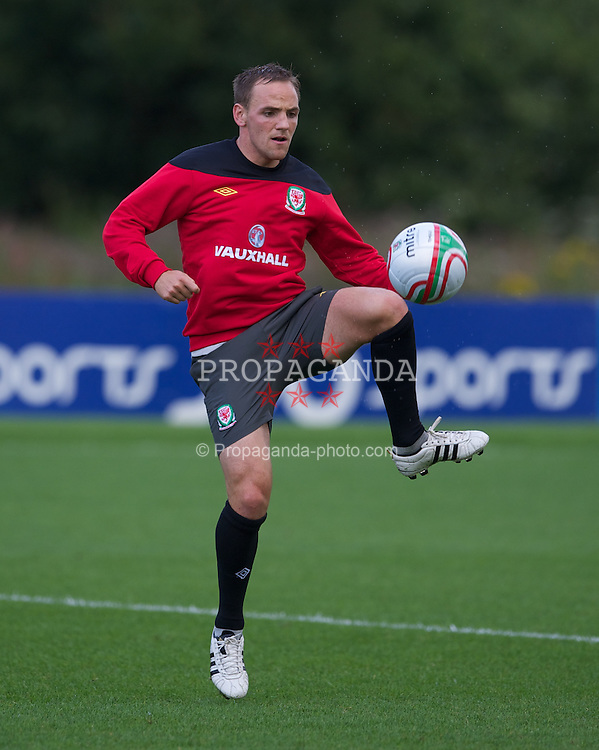 CARDIFF, WALES - Monday, August 8, 2011: Wales' David Vaughan during training at the Vale of Glamorgan ahead of the International Friendly match against Australia. (Photo by David Rawcliffe/Propaganda)