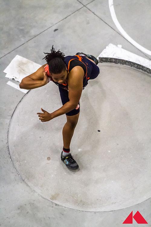 ECAC Indoor Champs, womens shot put, Morgan State