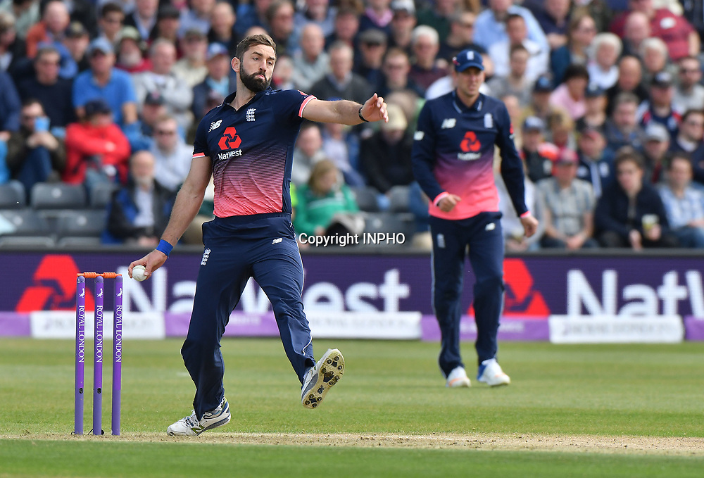 1st One Day International, Bristol Cricket Ground, England 5/5/2017<br /> England vs Ireland<br /> England's Liam Plunkett bowls<br /> Mandatory Credit &copy;INPHO/Presseye/Rowland White