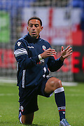 Bolton Wanderers midfielder Liam Feeney  during the Sky Bet Championship match between Bolton Wanderers and Brentford at the Macron Stadium, Bolton, England on 30 November 2015. Photo by Simon Davies.