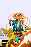 Crow Fair, rodeo, young roper, Crow Indian Reservation, Montana