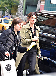 Sandra Bullock was spotted in character for the first time on the set of her new film, Ocean's Eight. The Oscar winner leads an all-star cast for the all-female spin-off of Steven Soderbergh's Ocean's Eleven trilogy. New York City, NY, USA, October 24, 2016. Photo by MM/ABACAPRESS.COM