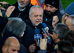 LIVERPOOL, ENGLAND - Monday, December 10, 2018: SSC Napoli's president Aurelio De Laurentiis during a training session at Anfield ahead of the UEFA Champions League Group C match between Liverpool FC and SSC Napoli. (Pic by David Rawcliffe/Propaganda)