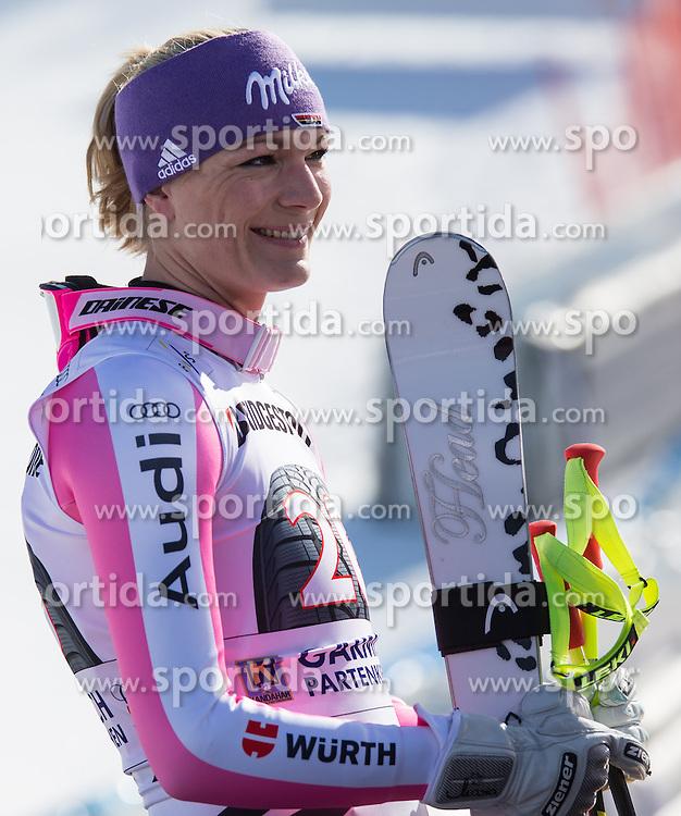 02.03.2013, Kandahar, Garmisch Partenkirchen, GER, FIS Weltcup Ski Alpin, Abfahrt, Damen, im Bild Maria Hoefl-Riesch (GER, 3. Platz) // 3th place Maria Hoefl-Riesch of Germany reacts after her run of the ladies Downhill of the FIS Ski Alpine World Cup at the Kandahar course, Garmisch Partenkirchen, Germany on 2013/03/02. EXPA Pictures © 2013, PhotoCredit: EXPA/ Johann Groder