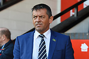 Southend United manager Phil Brown during the EFL Sky Bet League 1 match between Walsall and Southend United at the Banks's Stadium, Walsall, England on 28 October 2017. Photo by Alan Franklin.