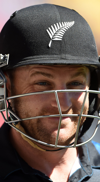 Brendon McCullum during the ICC Cricket World Cup quarter final match between New Zealand Black Caps and the West Indies, Wellington, New Zealand. Saturday 21March 2015. Copyright Photo: Andrew Cornaga / www.Photosport.co.nz