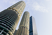 Marina City complex in Chicago, Illinois.